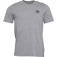 Umbro Mens Active Style Small Logo T-Shirt Grey Marl/Black