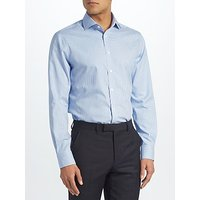 John Lewis & Partners Gingham Slim Fit Shirt, Blue