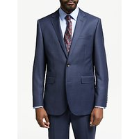 John Lewis & Partners Zegna Wool Tailored Fit Check Suit Jacket, Navy