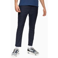 Mens Navy Stripe Trousers, Navy
