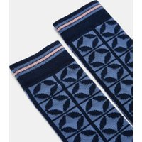 Tile Pattern Cotton Socks