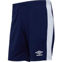 Umbro Mens Active Style Poly Shorts Medieval Blue/White