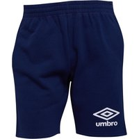 Umbro Mens Active Style Jog Shorts Medieval Blue/White