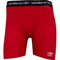 Umbro Mens Baselayer Power Shorts Red