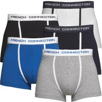 French Connection Mens Five Pack Boxers Black/Grey/White/Prince/Marine