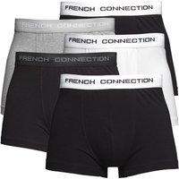French Connection Mens Five Pack Boxers Black/Black/Black/Black/Black