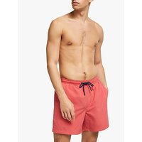 John Lewis & Partners Plain Swim Shorts, Red