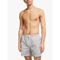 John Lewis & Partners Seersucker Stripe Swim Shorts, Multi