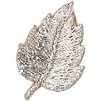La Stphanoise Leaf Iron On Patch, Silver