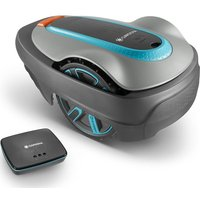 GARDENA Smart Sileno City Cordless Robot Lawn Mower - Turquoise and Grey, Turquoise