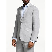 John Lewis & Partners Linen Regular Fit Suit Jacket, Silver Grey