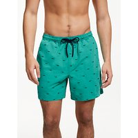 John Lewis & Partners Shark Swim Shorts, Green