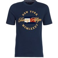 Tommy Hilfiger  ICON RELAX FIT TEE  men's T shirt in Blue