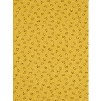 Domotex Fox Face Print Muslin Fabric, Mustard