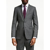 John Lewis & Partners Wool Puppytooth Slim Fit Suit Jacket, Grey