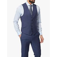 Richard James Mayfair Birdseye Slim Waistcoat, Blue