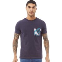 Fluid Mens Pocket Print T-Shirt Navy