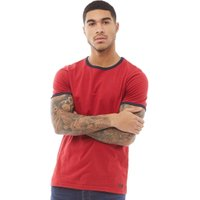 Fluid Mens Ringer T-Shirt Red/Navy