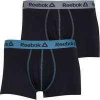 Reebok Mens Turner Two Pack Trunks Black/Mineral Mist/Cool Shadow