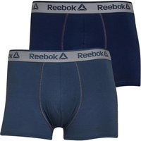 Reebok Mens Billy Two Pack Trunks Blue Hills/Collegiate Navy