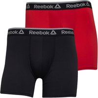 Reebok Mens Jared Performance Two Pack Medium Trunks Black/Primal Red