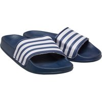 Mad Wax Mens Striped Sliders Navy/White
