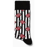 Mens White Pop Can Socks, White