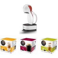 DOLCE GUSTO by De'Longhi Colors EDG355.W1 Coffee Machine & Pod Bundle - Macchiato, Americano & Cappu