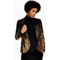 Mens Twisted Tailor Black And Gold 'Cyanide' Blazer, Black