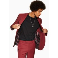 Mens Red Two Tone Skinny Blazer, Red