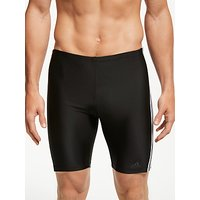 adidas 3-Stripe Swim Jammers, Black/White