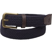 French Connection Mens Woven Elastic Belt Marine