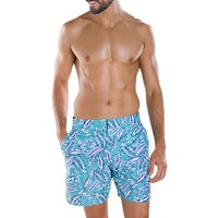 Speedo Vintage Print 16 Swim Shorts, Dream Fuse Nile Blue/Black