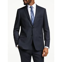 John Lewis & Partners Birdseye Wool Slim Fit Suit Jacket, Navy