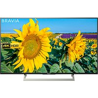 Sony Bravia KD43XF8096 LED HDR 4K Ultra HD Smart Android TV, 43 with Freeview HD & Youview, Black