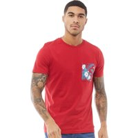 Fluid Mens Pocket Print T-Shirt Chilli Pepper