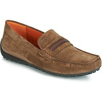 Geox  UOMO SNAKE MOCASSINO  men's Loafers / Casual Shoes in Brown
