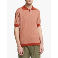Far Afield Blakey Herringbone Knitted Polo Shirt