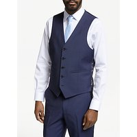 John Lewis & Partners Italian Wool Mohair Tailored Waistcoat, Blue
