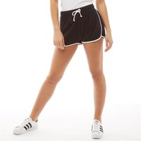 Fluid Womens Running Shorts Black/White