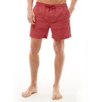 Onfire Mens AOP Swim Shorts Red/White