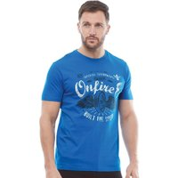 Onfire Mens Printed T-Shirt Blue