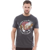 Onfire Mens Printed T-Shirt Charcoal Marl