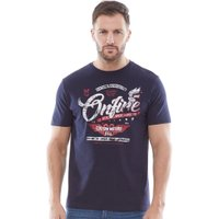 Onfire Mens Printed T-Shirt Navy