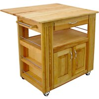 Eddingtons Catskill Wooden Central Kitchen Island With Drop Leaf