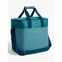 John Lewis & Partners Modern Country Extra Large Picnic Cooler Bag, Blue