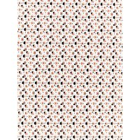 Oddies Textiles Fox Face Hat and Monocle Print Fabric, White/Orange
