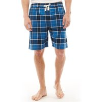 Onfire Mens Woven Checked Lounge Shorts Navy