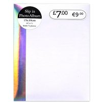 White Iridescent Bind 72 Pocket Photo Album - 6x4