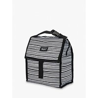 PackIt Striped Lunch Cooler Bag, Black/White, 6L